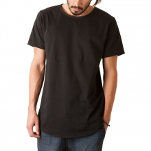 The Curved Hem Tail Tee In Black