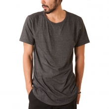 The Curved Hem Tail Tee In Charcoal