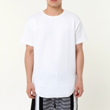 Quilt Tee - White