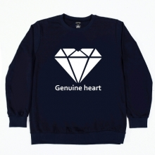 Diamond heart logo M.T.M - Navy
