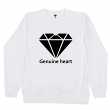 Diamond heart logo M.T.M - White