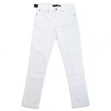 Skinny Fit Pants - White Shredded