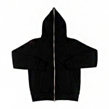 Full Zip-Up Hood - Black