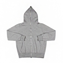 Full Zip-Up Hood - Grey