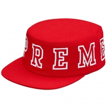 Pillbox Snapback Cap - Red