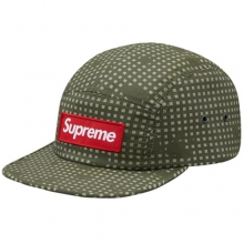 Grid Camo Camp Cap