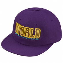 World Famous 6 Panel Snapback - Purple