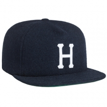 Wool Classic H Strapback - Navy