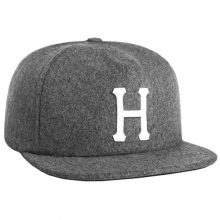 Wool Classic H Strapback - Grey Heather
