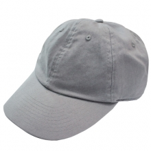 Brushed Cotten 6 Panel cap - Steel