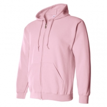 Classic Fit Adult Hood Zipup - Light Pink