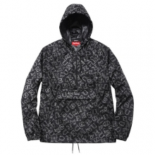 Reflective Pullover Windbreaker - Black