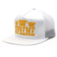 Champ Mesh Back 5Panel Snapback - White