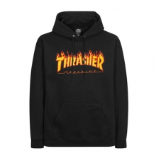 Flame Logo Hood - Black
