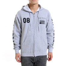 Regime Zip Up Hoodie - Grey