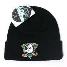 Vintage Anahiem Ducks Knit Beanie - Black