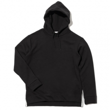 Side Clip Raising Hoody - Black