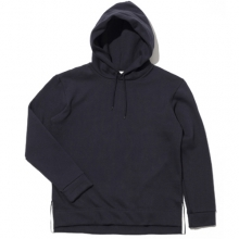 Side Clip Raising Hoody - Indigo Blue