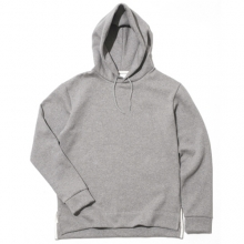 Side Clip Raising Hoody - L Grey