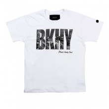 (50%SALE) [Black Hoody] BKHY Seoul Night T-Shirt - White