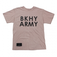 (50%SALE) [Black Hoody] BKHY Army T-Shirt - Brown