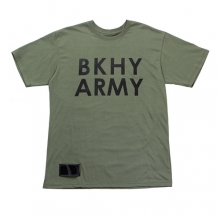 (50%SALE) [Black Hoody] BKHY Army T-Shirt - Green