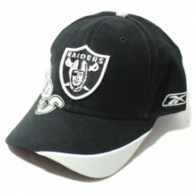 NFL Raiders Diagonal Line Baseball Cap - Black