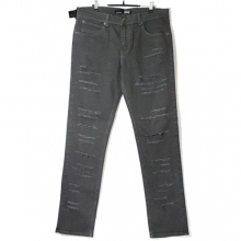 Skinny Fit Pants - Charcoal Shredded