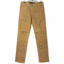 Skinny Fit Pants - Tobacco Shredded