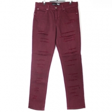 Skinny Fit Pants - Vino Shredded