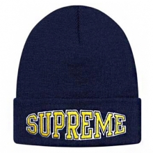 Warp Logo Beanie - Navy/Yellow