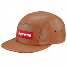 Leather Camp Cap - Brown