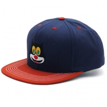 2 Tone Mad Cat 5 Panel Snapback - Navy