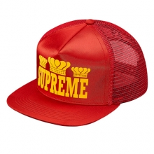 Champ Mesh 5 Panel Snapback - Red