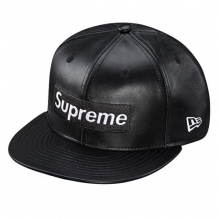 Leather Box Logo New Era - Black