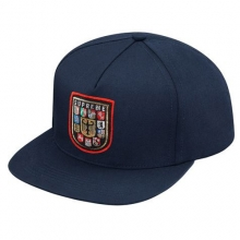 Military Shield 5 Panel Snapback - Navy