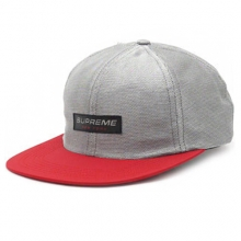 Metallic Mesh Competition 6 Panel Cap - Red