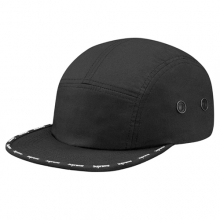 Visor Taped Camp Cap - Black