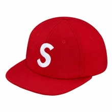 Wool S Logo 6 Panal Cap - Red