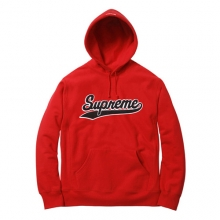Chenille Script Hooded - Red