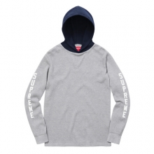 Hooded Waffle Themal - Grey