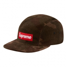 Cord Camo Camp Cap - Brown