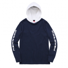 Hooded Waffle Thermal - Navy