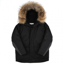 Heavy Duck Down Parka - Black