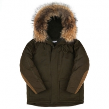 Heavy Duck Down Parka - Dark Olive