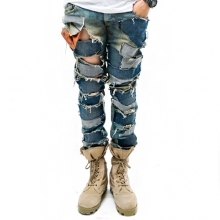 Denim Collage Jean by Deezy Young - 100% Hand Made -