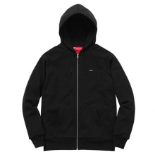 Small Box Thermal Zip Up Sweat - Black
