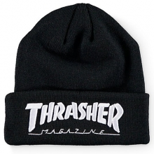 Embroidered Logo Beanie - Black