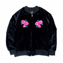 Flower Real Velvet Sukajyan - Black