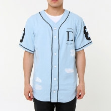 Team Thrash Denim Baseball Jersey